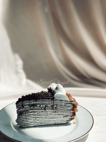 Chocolate Peppermint Cheese Mille Crepe